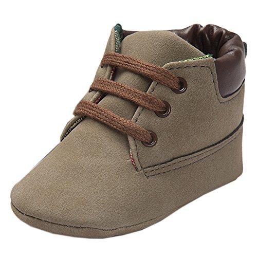 Baby Herbst Beiläufige Hohe Top T-gebunden Suede Krippe Sneakers Boots Grau