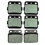 (US) Front and Rear Kevlar Carbon Brake Pads for Suzuki LTZ400 LT-Z 400 Quadsport 2003-2014