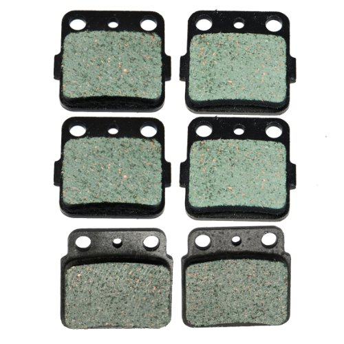 Front and Rear Kevlar Carbon Brake Pads for Suzuki LTZ400 LT-Z 400 Quadsport 2003-2014