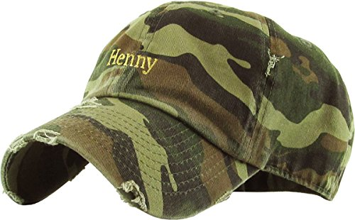 Ladies Camo Cap - KBSV-023 CAM Henny Dad Hat Baseball Cap Polo Style Adjustable