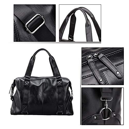 Function Shoulder Travel 's Computer 2018 Waterproof Pu b Capacity High Tote Black Back 3095 Leather Multi Men Jn Bag gZfqRR