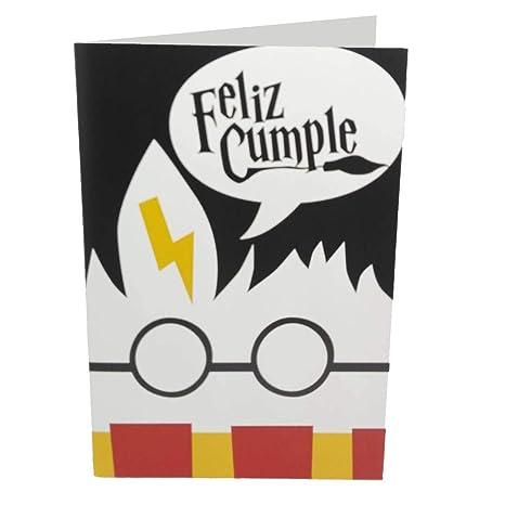 Tarjeta felicitación Harry Potter