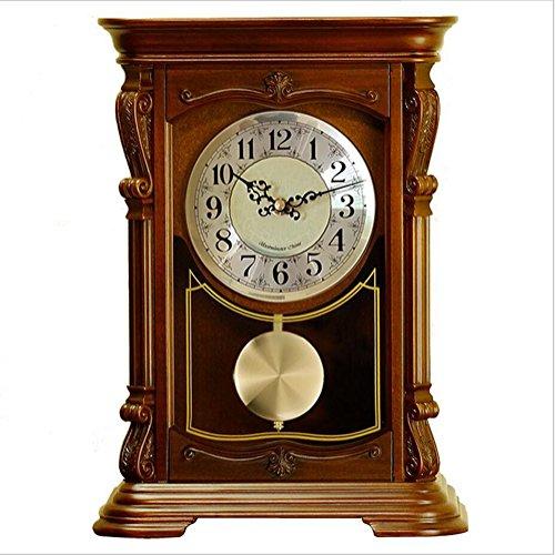 Reloj De Péndulo De Madera Antiguo Reloj De Chimenea Antiguo Decoración Del Hogar Dormitorio De Noche Reloj De Escritorio...