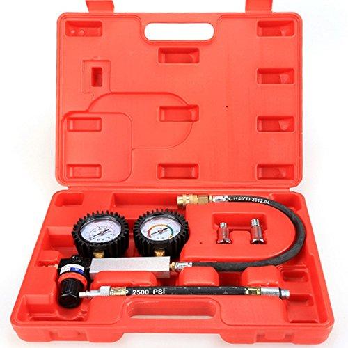 -21 Cylinder Leakage Leak Detector Engine Compression Tester Gauges Set (Leak Down Tester)