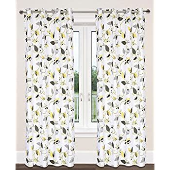 Amazon Com Lj Home Fashions Preston Cotton Leaf Print