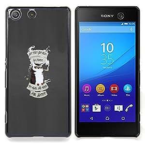 """Qstar Arte & diseño plástico duro Fundas Cover Cubre Hard Case Cover para Sony Xperia M5 E5603 E5606 E5653 (Consejos Búho"""")"""