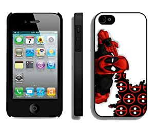 Fashion And Unique iPhone 4 Case Designed With Deadpool 3 Black iPhone 4 Cover
