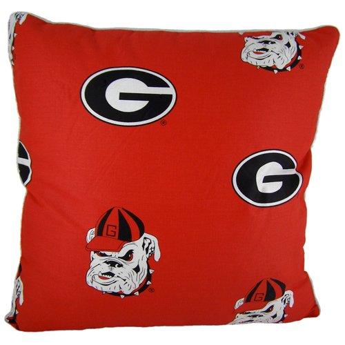 "Price comparison product image College Covers Georgia Bulldogs Decorative Pillow,  16"" x 16"",  Includes 2 Decorative Pillows"