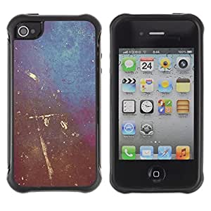 "Pulsar iFace Series Tpu silicona Carcasa Funda Case para Apple iPhone 4 / iPhone 4S , Arte de la pintura de pared Rayado Diseño de Interiores Shabby"""