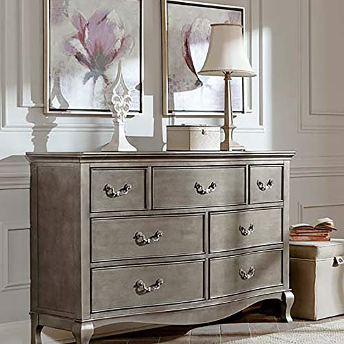 Hillsdale Furniture NE Kids 30500 Kensington 7 Drawer Dresser, Antique Silver,