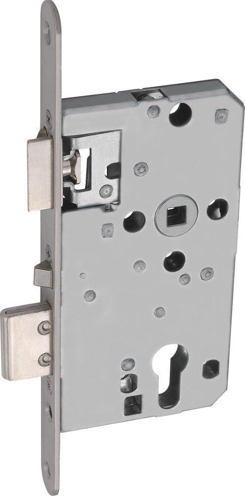 Abus 455513 TKZ40 - Cerradura empotrable para Puerta (Apertura Derecha y Apertura Izquierda), Color Plateado