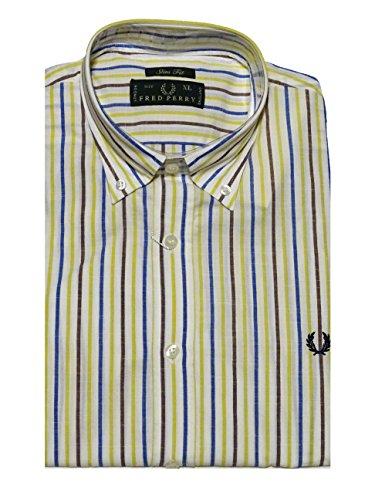Fred Perry - Herren Hemd - Slim Fit - Stripe - Button Down - XL