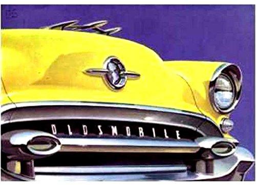 A BEAUTIFUL 1955 OLDSMOBILE DEALERS SALES BROCHURE - SHOWS 10 MODELS - ADVERTISMENT 55