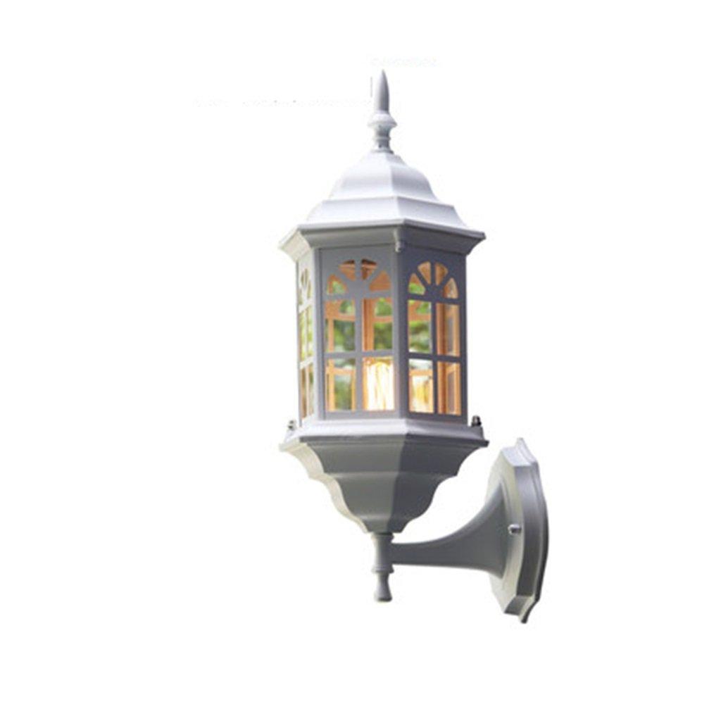 promozioni di sconto Lampada da parete per esterno esterno esterno europea bianca Lampada da giardino impermeabile Luce industriale retrò Luce solare balcone Lampada da parete esterna per esterni Nordic (Dimensioni  20  42cm)  vendite online