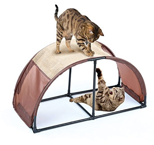 Cat Scratchier N' Play Lounger Compact Lightweight Portable & Easy To Assemble Scratching Center Toy For Indoors & Outdoors Exercise Your Kitty Reduce Stress & Keep It Entertained (Activity Table Waves)