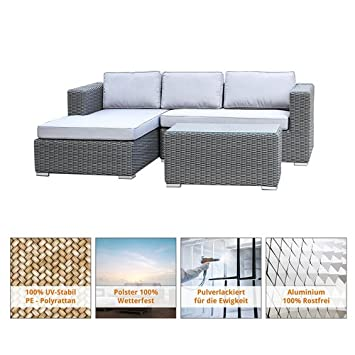 amazon de art decor polyrattan gartenmobel lounge lounge mobel eckgruppe lounge set polyrattan rattan garnitur sitzgruppe in outdoor geflochten