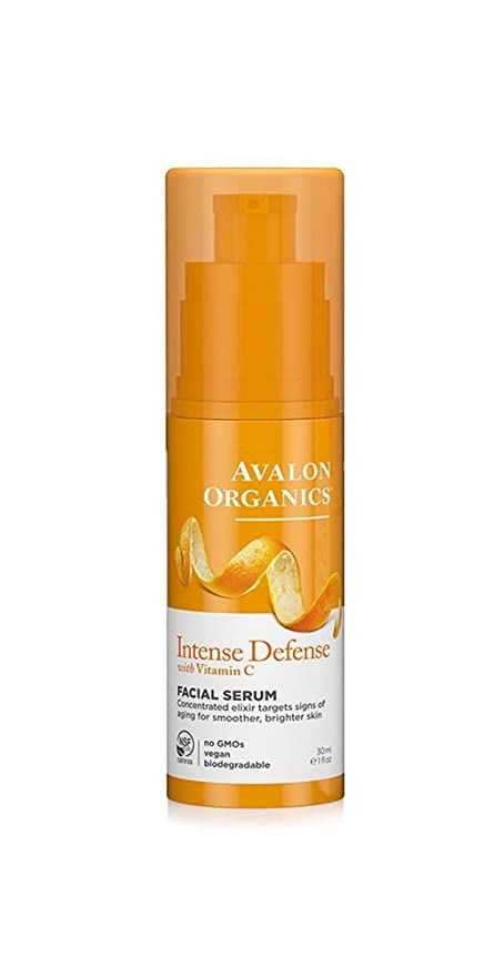 Avalon Organics Intense Defense - Crema para ojos con vitamina C, 30 ml