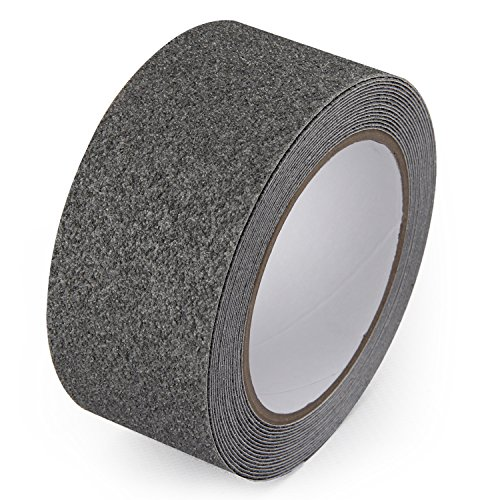 LifeGrip Textured Rubber Surface Anti-slip Safety Tape - Grey - Comfortable for Bare Foot (1