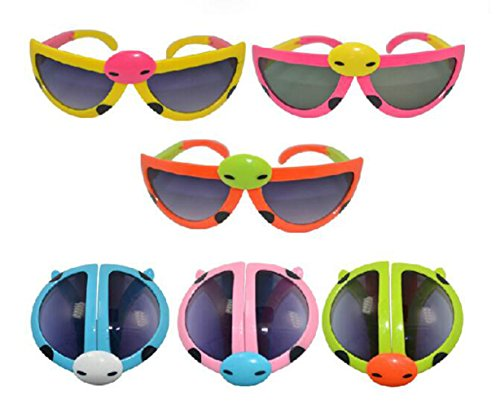 8 Pack Coulful Plastic Sunglasses Kids Toy for Party Favors,Decorations - Assorted - Personalized Plastic Sunglasses