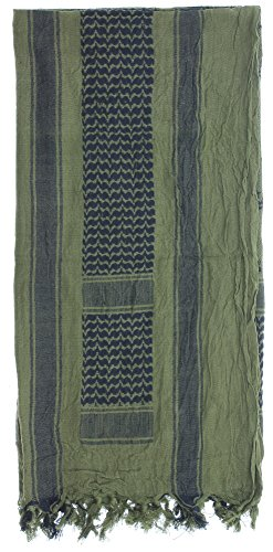 Premium Heavyweight Shemagh Scarf with ARMY UNIVERSE Pin - Gadsden Snake Olive Drab & Black by Army Universe (Image #2)