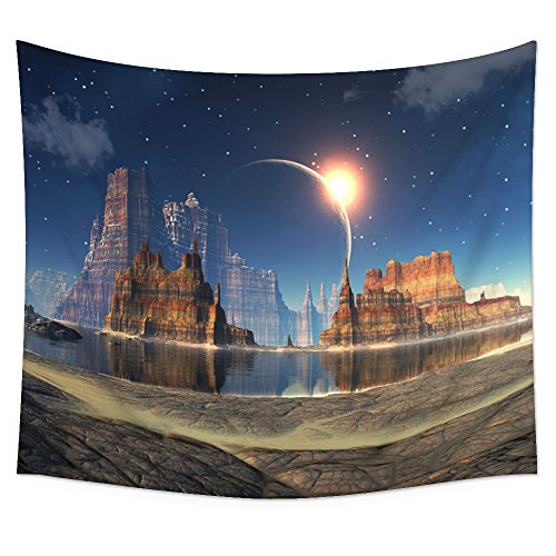 Uphome Planet Mountains Tapestry Hanging