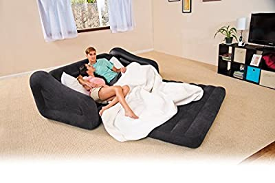 Intex Queen Inflatable 2-In-1 Pull-Out Sofa And Air Mattress Sleeper   68566EP
