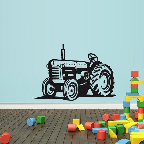 Wall Decal Vinyl Sticker Decals Bedroom Nursery Boys Art Decor Tractor Loader Bulldozer Kids (Z2650) by StickersForLife - Kid Art Tractor