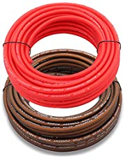 Welugnal 8 Gauge 41ft Black and 41ft Red Power/Ground Wire True Spec and Soft Touch Cable for Car Amplifier Automotive Trailer Harness Wiring