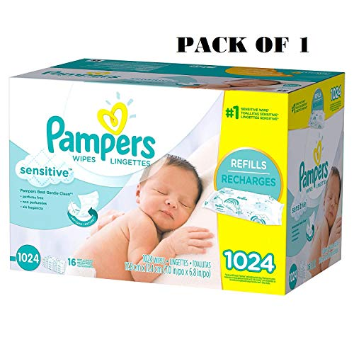 Pampers Stages Sensitive Wipes (1024 count)