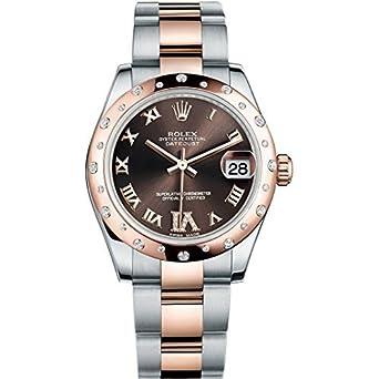 Rolex Datejust 31 mm en Acier et Or Rose Montre avec 24 Diamants ...
