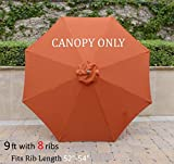 Replacement Umbrella Canopy for 9ft 8 Ribs Terra Cotta (Canopy Only) Review