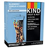 #5: KIND Bars, Blueberry Vanilla & Cashew, Gluten Free, 1.4 Ounce Bars, 12 Count