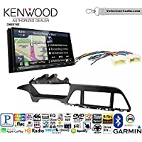 Volunteer Audio Kenwood DNX874S Double Din Radio Install Kit with GPS Navigation Apple CarPlay Android Auto Fits 2015-2017 Hyundai Sonata
