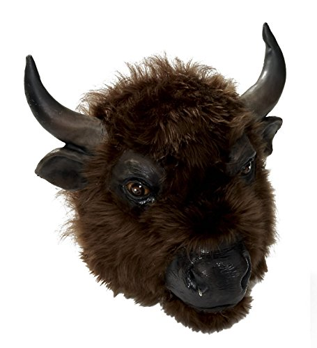 [Forum Novelties Men's Buffalo Latex Mask, Brown, One Size] (Animal Halloween Costumes Men)