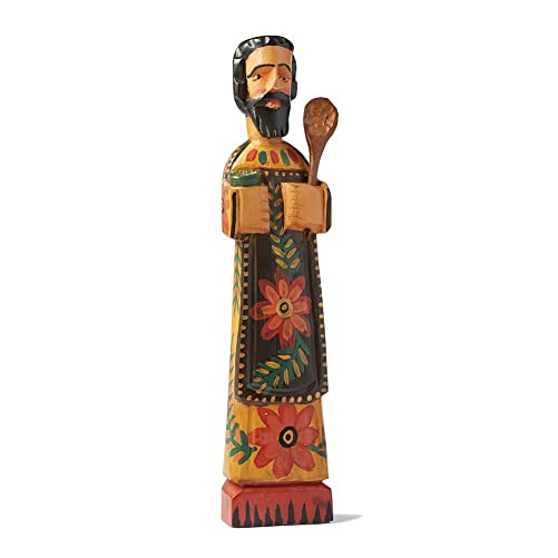 SIGNALS Patron Saint of Cooks Wooden Sculpture, San Pasqual – 15 Tall, Fair Trade
