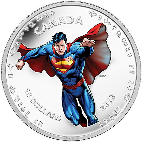 2013 CA Superman: Modern Day Superman - Silver 1/2 oz. Matte Proof Coin - Canada RCM - with all OGP and COA $20 Superb Gem Uncirculated (Commemorative Mint Coins Royal)