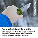 Morakniv Eldris Fixed-Blade Pocket-Sized Knife with Sandvik Stainless Steel Blade and Plastic Sheath, Green, 2.2 Inch