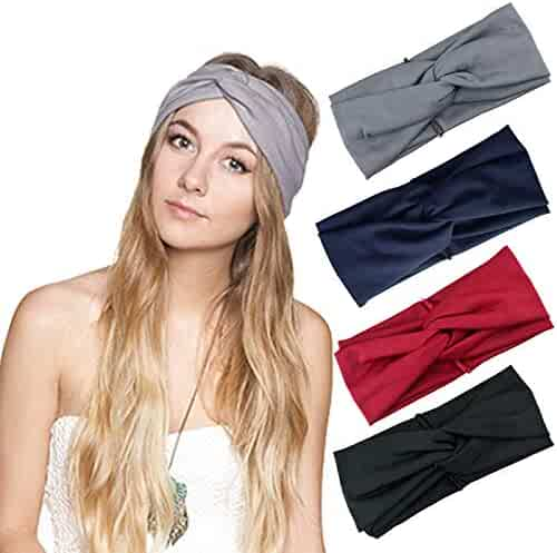 bc0b4585b3840 DRESHOW Cross Headbands Vintage Elastic Head Wrap Stretchy Moisture  Hairband Twisted Cute Hair Accessories