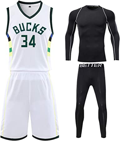 SAUY # 34 Camiseta de Baloncesto Antetokounmpo para niños, Bucks ...