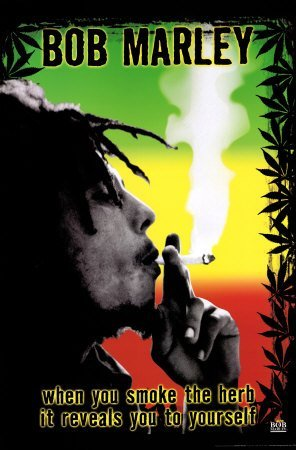 Bob Marley Smoke the Herb Quote Music Poster Print 12 x18 inch ()