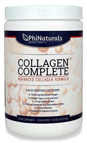 Collagène supplément (poudre) collagène complet. 10 000 mg de collagène hydrolysé Types 1, 2 & 3, acide hyaluronique et plus encore. Les mieux notées parmi les meilleurs suppléments de collagène.
