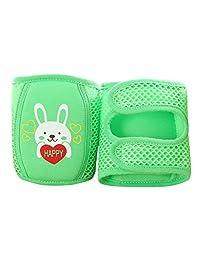 Enerhu Cartoon Baby Anti-slip Knee Pad Protector Toddler Elbow Pads Kneepads Green