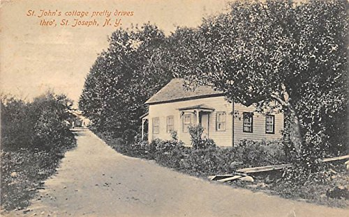 - St John's Cottage pretty drives Saint Josephs, New York, Postcard