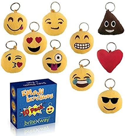 Funny Smiley Face Keyring KeyChain Happy Mood Icon Fun Party Favor Filler Reward