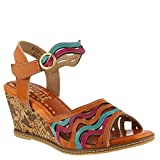 L'Artiste by Spring Step Women's Style Melania Camel EURO Size 39 Leather Sandal