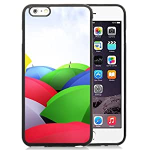 New Personalized Custom Designed For iPhone 6 Plus 5.5 Inch Phone Case For Colorful Umbrellas Phone Case Cover