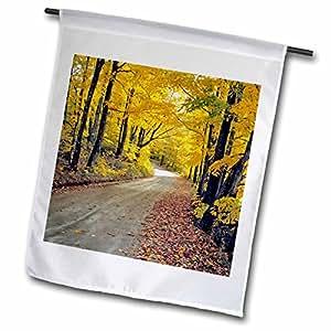 Danita Delimont - Vermont - USA, Vermont, Groton. Country road - US46 RER0002 - Ric Ergenbright - 12 x 18 inch Garden Flag (fl_95041_1)