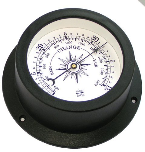 Trintec Nautical Marine Vector Collection Aneroid Barometer (White Dial) VEC-W-04 Indicator Trintec Industrial Inc