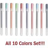 [10 pens set] Muji Gel Ink Ball Point Pen 0.5mm All Colour Set