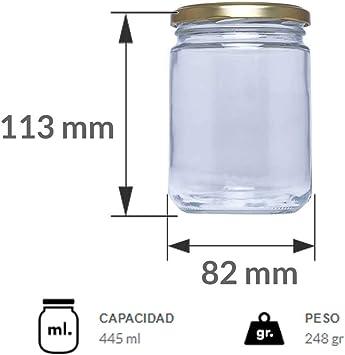 R/éf.16 Lot de 60 bocaux de conserve en verre 445 ml